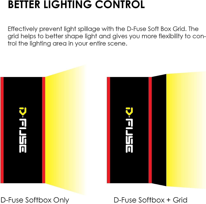 Portable Softbox Grid Foldable Studio Photography Camera Video Kamerar Grid for D-Fuse DF-1L Large LED Light Panel Softbox