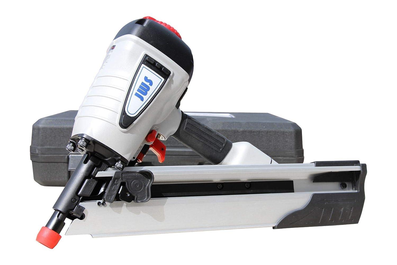 Druckluft Streifennagler Druckluftnagler Nagelgerät 34° 50mm bis 100mm Nagler JWS