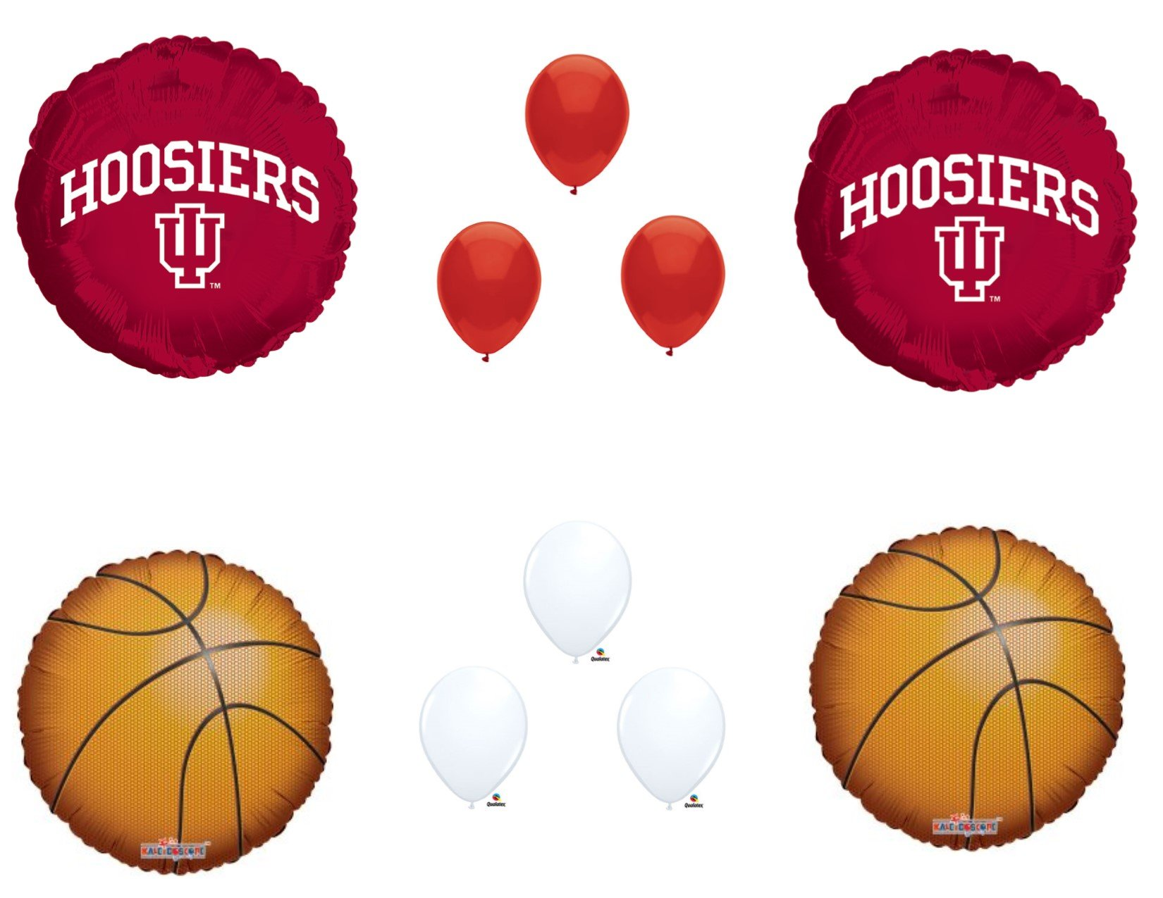 INDIANA HOOSIERS Basketball Game Day Birthday Party Balloons Decorations Supplies College University