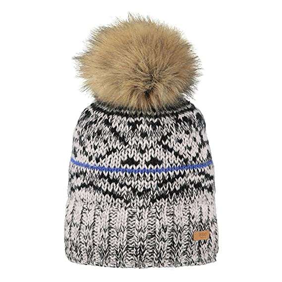 Barts Hats Eartha Faux Fur Bobble Hat - Grey 1-Size  Amazon.co.uk ... 0b62eb66cdb