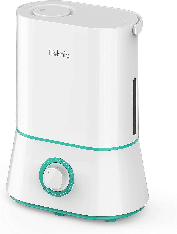 iTeknic Ultraschall-Luftbefeuchter mit großer Kapazität für Schlafzimmer,  Babys, Zuhause und Büro