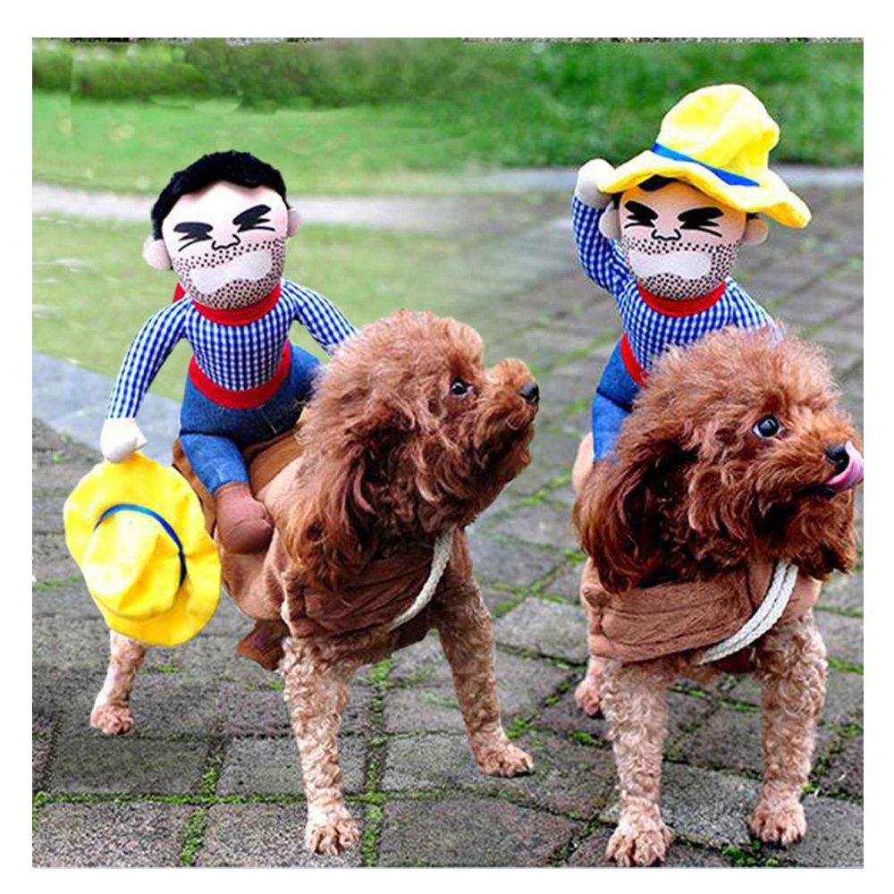 perros accesorios ropa Sannysis mascotas chaleco para perros halloween costumes traje de cosplay para cowboy