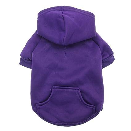 Amazon.com   Barking Basics Dog Hoodie - Purple - Small   Pet Supplies d9146780a