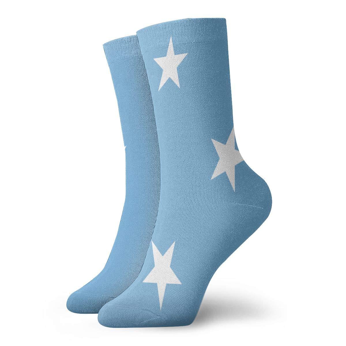 SESY Micronesia Flag Unisex Crew Socks Short Sports Stocking