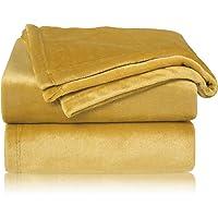 Bedsure Manta para Sofás de Franela 130x150cm - Manta para Cama 90 Reversible de 100% Microfibre Extra Suave - Manta…