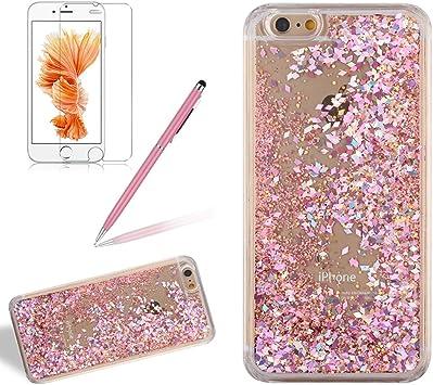 Coque pour iPhone 4/4S,Girlyard Plastique PC Rigide Dure Glitter ...