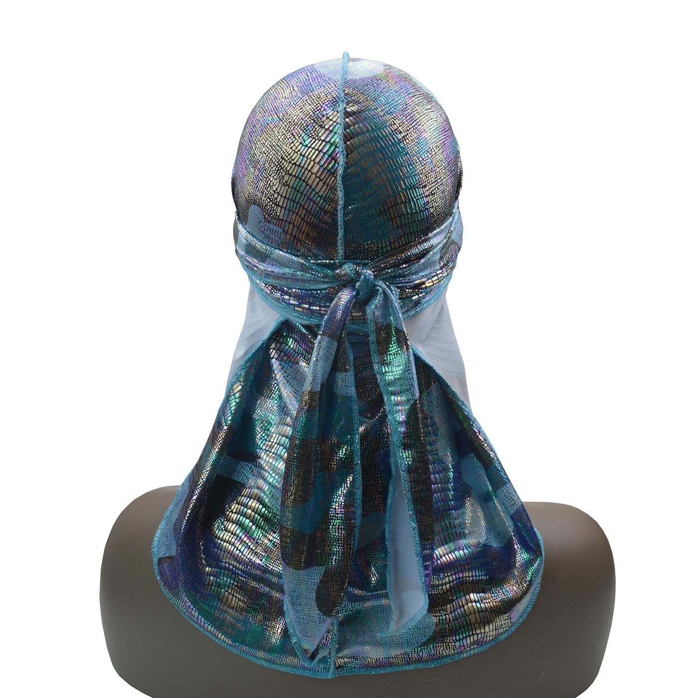 ASHILISIA Fashionable Silky Durag Headwraps with Extra Long Tail and Wide Straps for 360 Waves