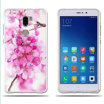 FUBAODA, Fundas Xiaomi Mi5S Plus, Carcasas Protección Gona, Protector de Silicona TPU Transparente y Fino, Hermoso Dibujo Floral, [Funda para Xiaomi ...