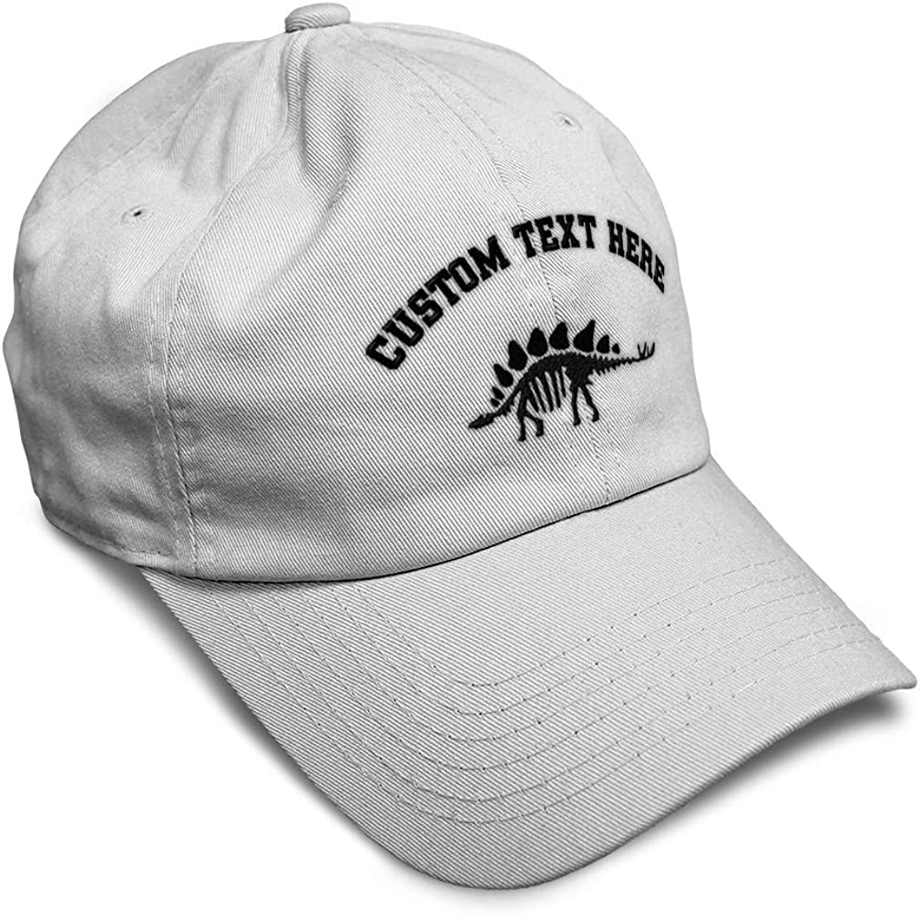 Custom Soft Baseball Cap Stegosaurus Skeleton Style A Embroidery Twill Cotton
