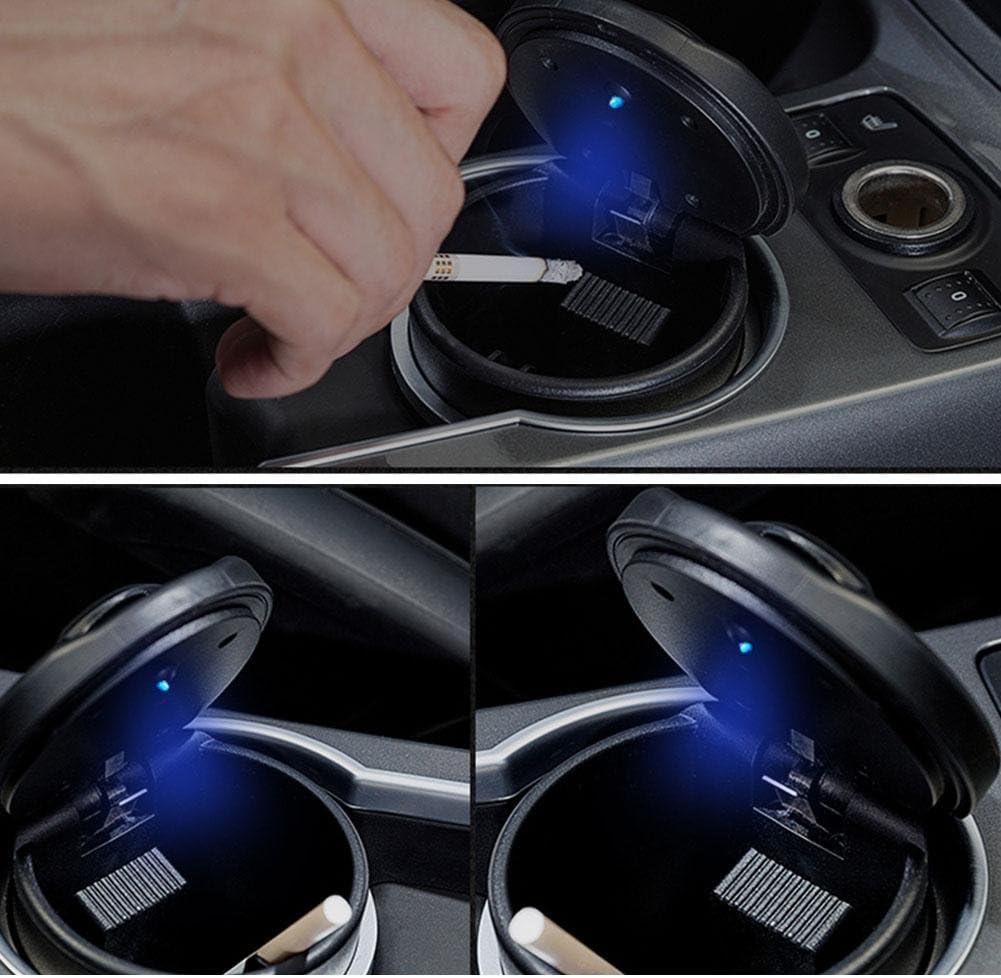 Big NACHEN Auto Aschenbecher mit LED Leuchten kreativer Aschenbecher mit Deckel