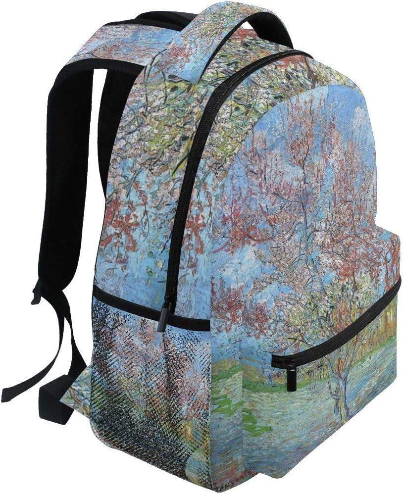 DEZIRO Oil Painting Laptop Backpack School Pack