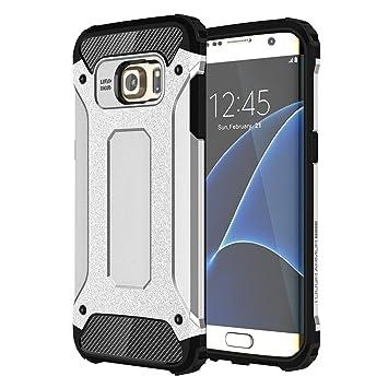 Galaxy S6 EDGE funda, Heavy Duty Hybrid Armor - Carcasa de ...