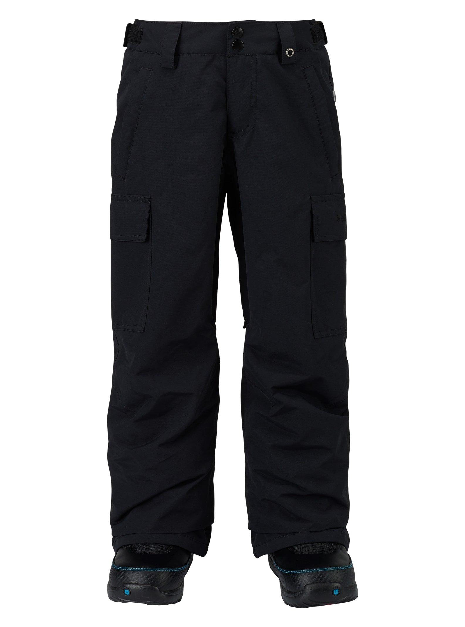 Burton Boys Exile Cargo Pant, True Black, X-Small