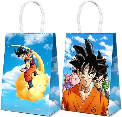 12 Unidades Para Bolsas De Regalo De Dragon Ball Para Fiestas De Cumpleaños Para Niños Doble Cara Dbz Super Saiyan Goku Gohan Personaje Decoraciones De Fiesta Toys Games