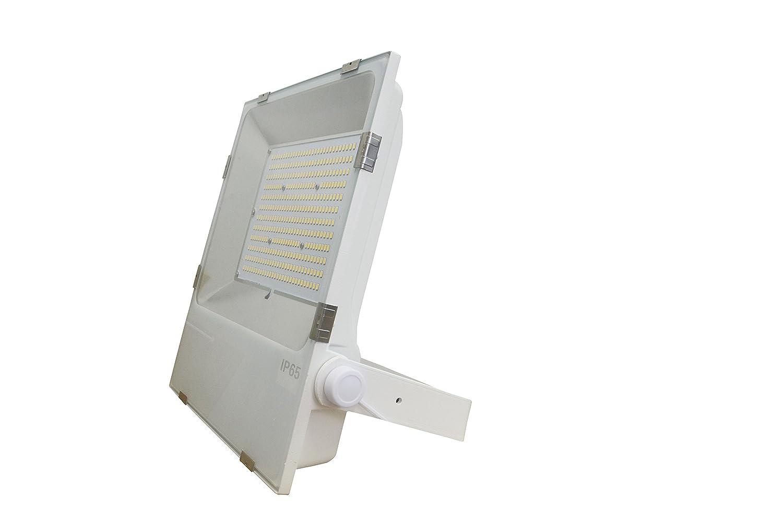 【無騒音 ハイパワーLED投光器】ホワイトLED投光器 150W 1500W相当 24000LM 超薄軽量型LED投光機 80% 省エネ 東芝製LEDチップ 150W MEANWELL電源内蔵 昼白色5000K IP65防塵防雨 街路灯LED防犯灯 IP65規格で非常に高い防水性能を発揮 屋外の看板やガレージの照明led 防水仕様コード長約5m ACプラグ付き 2年保証 50000h点灯可能   B073TQC2RH