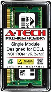 A-Tech 8GB RAM for DELL INSPIRON 17R (5759) | DDR3 1600MHz SODIMM PC3-12800 204-Pin Non-ECC Memory Upgrade Module