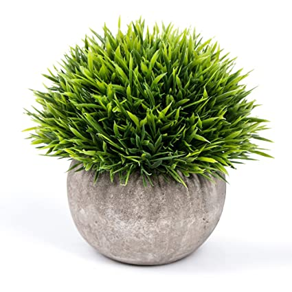 Vangold Artificial Plants Lifelike Bathroom Faux Plant Small Fake Plants  With Pots For Home/Office