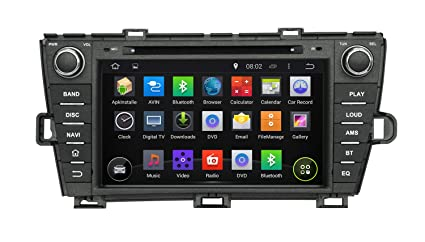 KUNFINE Android 6 0 Otca Core Car DVD GPS Navigation Multimedia Player Car  Stereo For TOYOTA PRIUS Left Driving 2009 2010 2011 2012 2013 2014 Steering