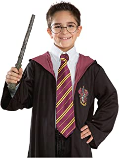 Harry Potter Gryffindor Economy Tie  sc 1 st  Amazon.com & Amazon.com: Rubieu0027s Deluxe Harry Potter Childu0027s Costume Robe With ...