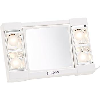 Amazon Com Jerdon J1010 6 Inch Portable Lighted Mirror