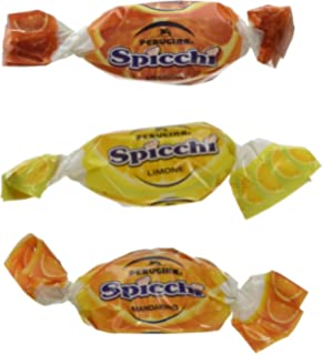 Perugina Sorrento Spicchi Hard Candies (1lb Bag Includes Tangerine, Lemon, and Orange Flavors