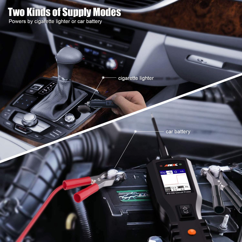 /schwarz Ancel PB100/Automotive Spannungspr/üfer Fahrzeug Bordnetz Detektor f/ür 12/V zu 24/V/