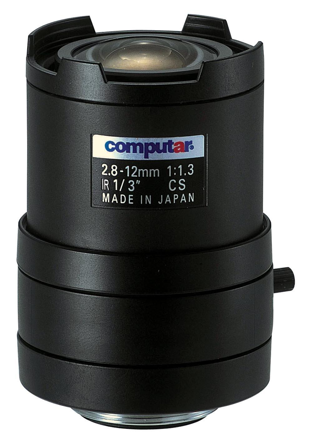 Computar T4Z2813CS-IR 0.33-Inch Varifocal lens 2.8-12mm F1.3 Manual Iris Day/Night Infrared by Computar
