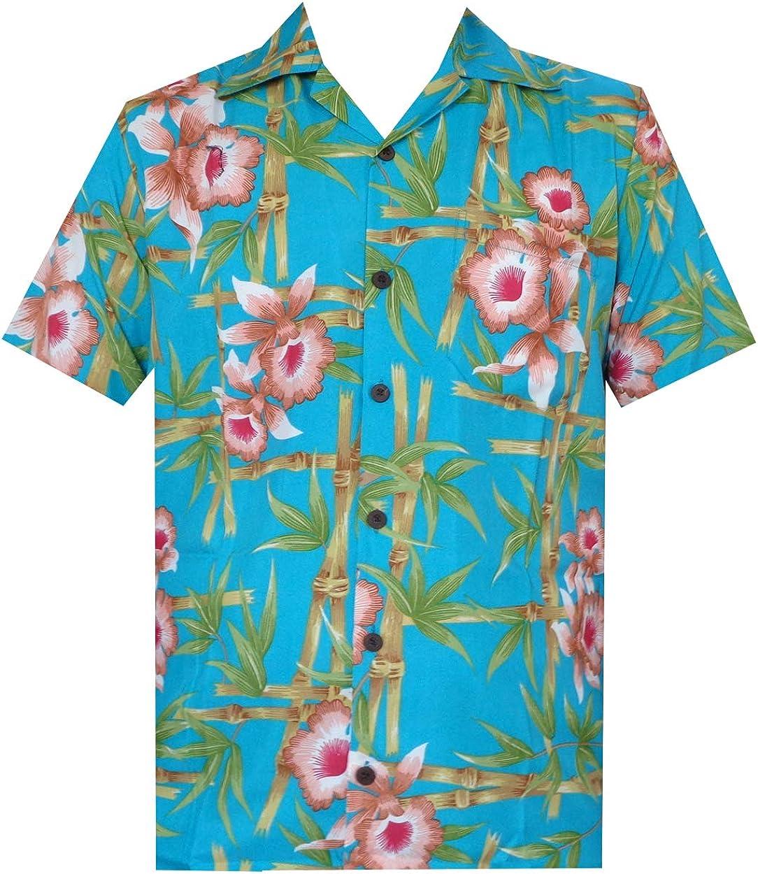 ALVISH - Camisas hawaianas de flamenco rosa para hombre, para playa, fiesta, casual, acampada, manga corta, crucero - - 4X-Large