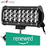 (Renewed) AllExtreme EX24FW1 24 LED Fog Light Bar 7.5 Inch Waterproof Spot Beam Cube Worklight with Mounting Bracket for Motorcycles and Cars (72W, White Light, 1 PC)