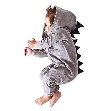 074afef13 De feuilles Chic-Chic Baby Girls Boys Dinosaur Romper Jumpsuit ...