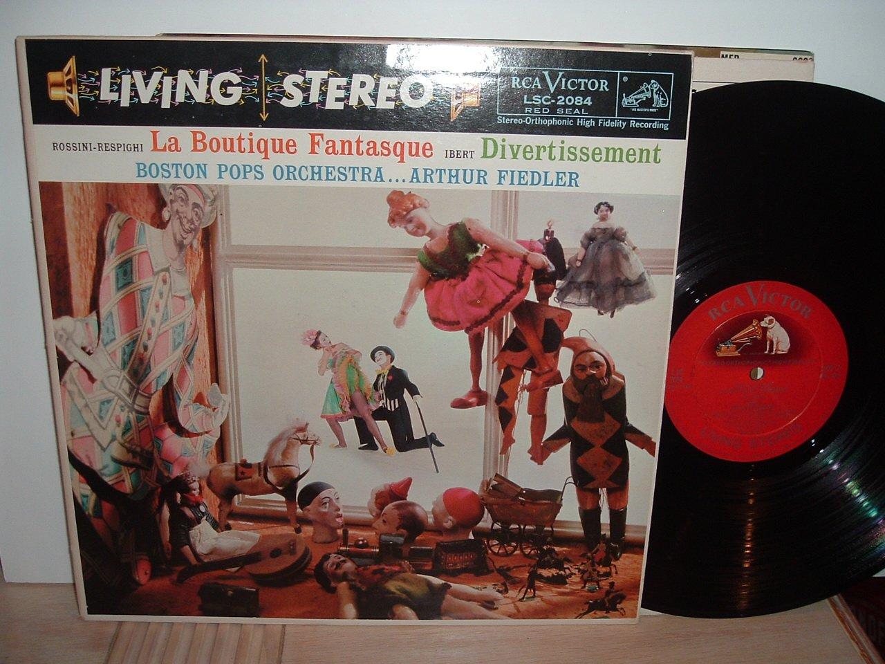LSC 2084 - Arthur Fiedler & Boston Pops Orchestra - Rossini-Respighi: La Boutique Fantasque & Ibert: Divertissement