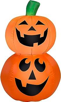 Gemmy Airblown Inflatable 3.5' X 2.5' Pumpkin Stack