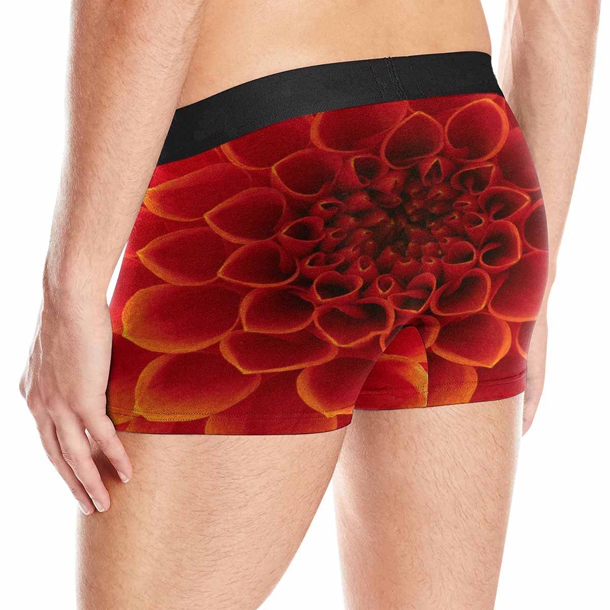 INTERESTPRINT Mens Boxer Briefs Underwear Abstract Petals XS-3XL