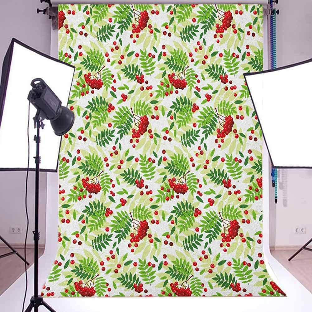 7x10 FT Tropical Vinyl Photography Backdrop,Hand Drawn Sketch Illustration of Pines on Off White Background Background for Photo Backdrop Baby Newborn Photo Studio Props