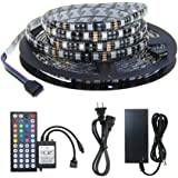 Amazon Price History for:WenTop Black PCB Led Strip Lights Kit DC12v Power Supply Waterproof SMD 5050 16.4 Ft (5M) 300leds RGB 60leds/m Led Tape Lights Dimmable Adhesive Lights with 44k Remote for Kitchen Cabinet