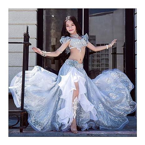Alto Grado Personalizado Disfraz Oriental Niños Top + Falda Baile ...