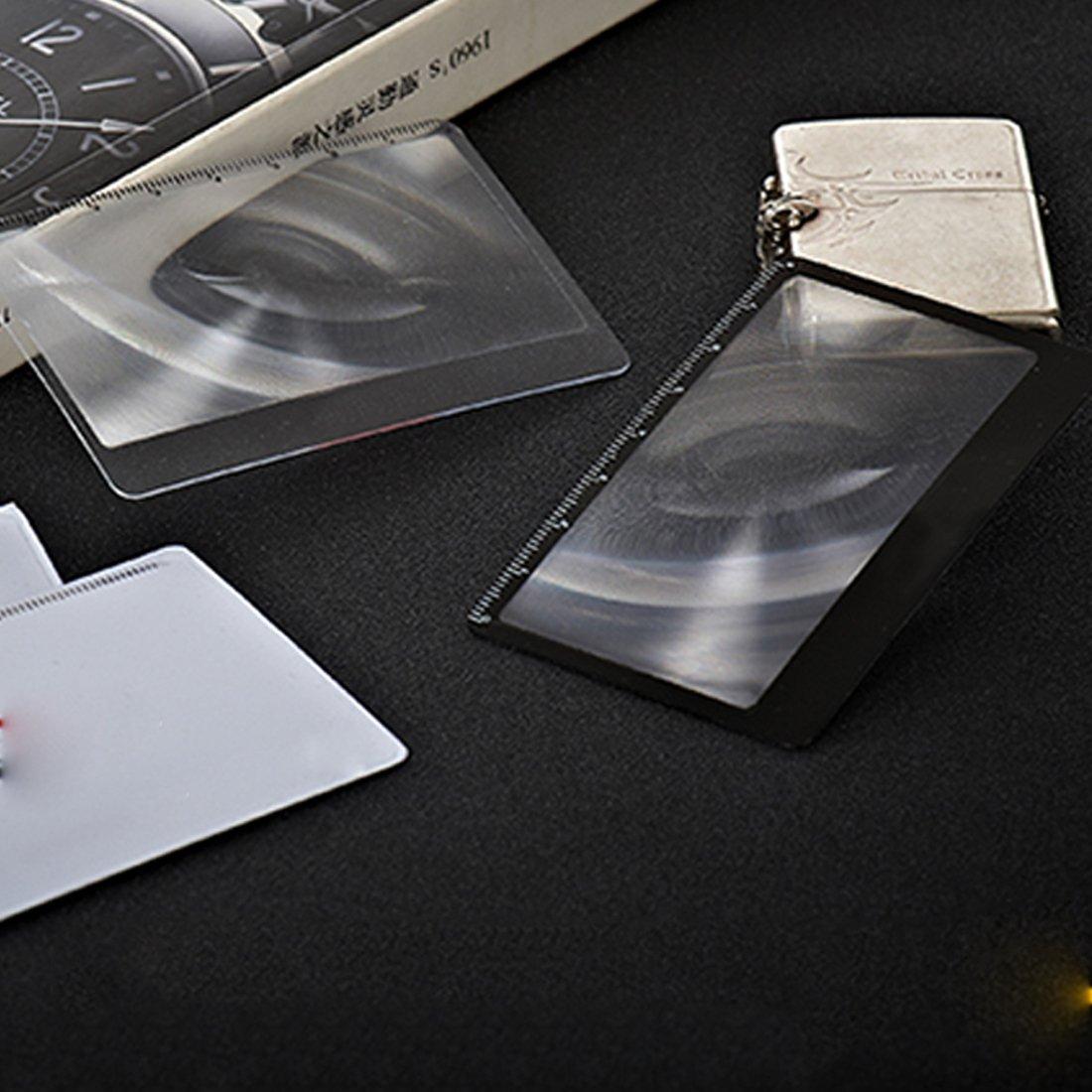 1 pcs Lentille de loupe de cartes de 3 x grossissement Loupe de ... 3a569035c7b0