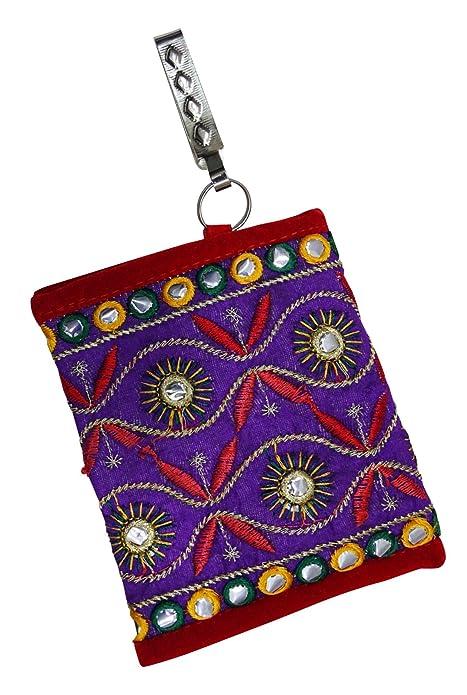 PEEGLI Las Mujeres Indias Monedero Hecho A Mano Bolsa Bordada Cartera Tradicional: Amazon.es: Zapatos y complementos