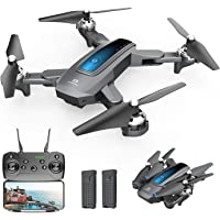 $59 » DEERC D10 Foldable Drone with Camera for Adults 720P HD FPV Live Video, Tap Fly, Gesture…