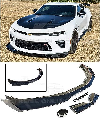 For 16-Up Chevrolet Camaro SS V8 T6 Front Bumper Carbon Fiber Lower Lip