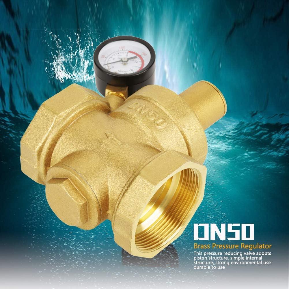 BSP DN50 Brass Pressure Reducing Valve with Adjustable Gauge Flow Biunixin Water Pressure Reducing Valve