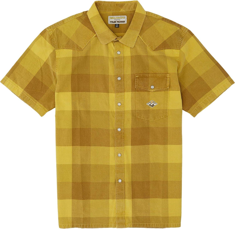 BILLABONG - Camisa para Hombre Four Doors SS (Mellow Yellow ...