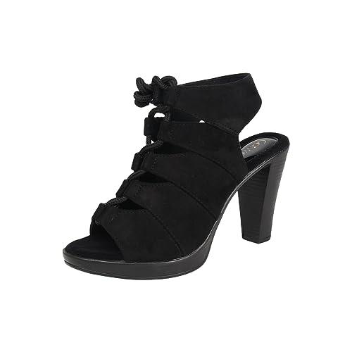 Buy Catwalk Black Heeled Sandals for