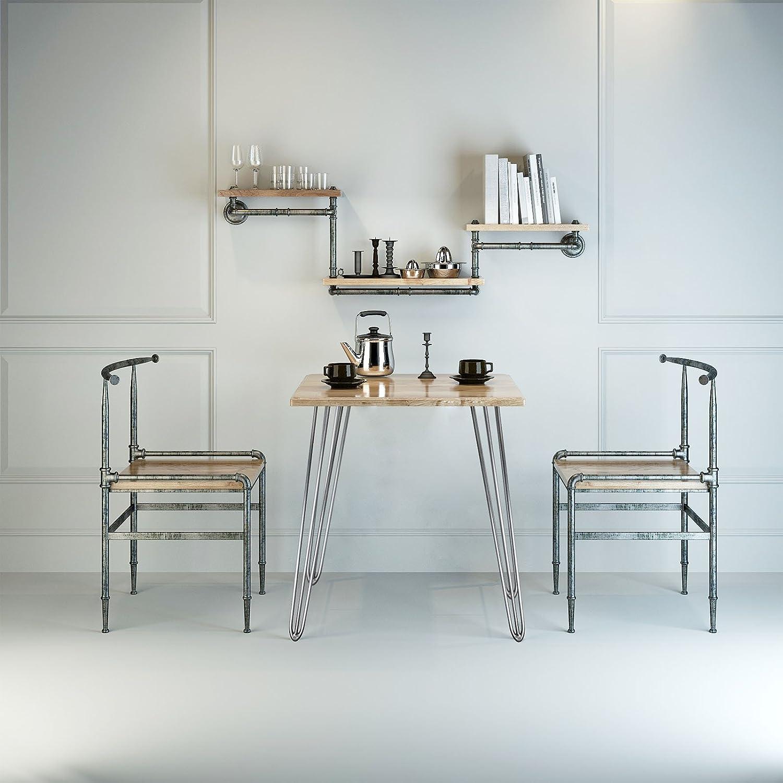 Patas horquilla mesa set4 acero 45cm Hairpin Legs dise/ño industrial retro vintage bricolaje muebles