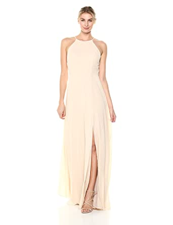 da3de7b3f Jenny Yoo Women's Kayla A-line Halter Chiffon Long Dress at Amazon Women's  Clothing store: