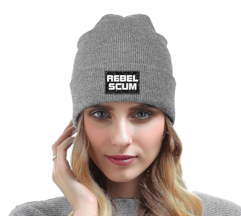 ZYNEW Rebel Scum Mens Womens Beanie Hat Warm Woolen Sport Skull Cap One Size