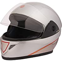 STARVIN RHYNOX FULL FACE HELMET    Silver COLOR    ISI APPROVED    WITH Red HYDROGRAPHICS MODEL- JETTY