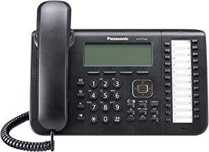 Panasonic 24 Button 6-Line Backlit LCD Display Digital Proprietary Telephone with Full Duplex Speaker Phone, Black KX-DT546-B