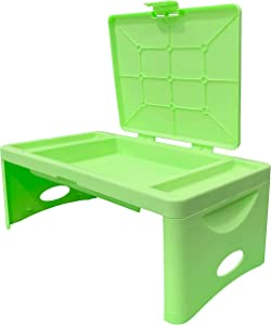 Foldable Lap Desk with Storage Pocket- Lime Green   Perfect use for Children's Activities, Travel, Breakfast in Bed, Gaming and Much More! Great for Kids and Teens! (Lime Green)