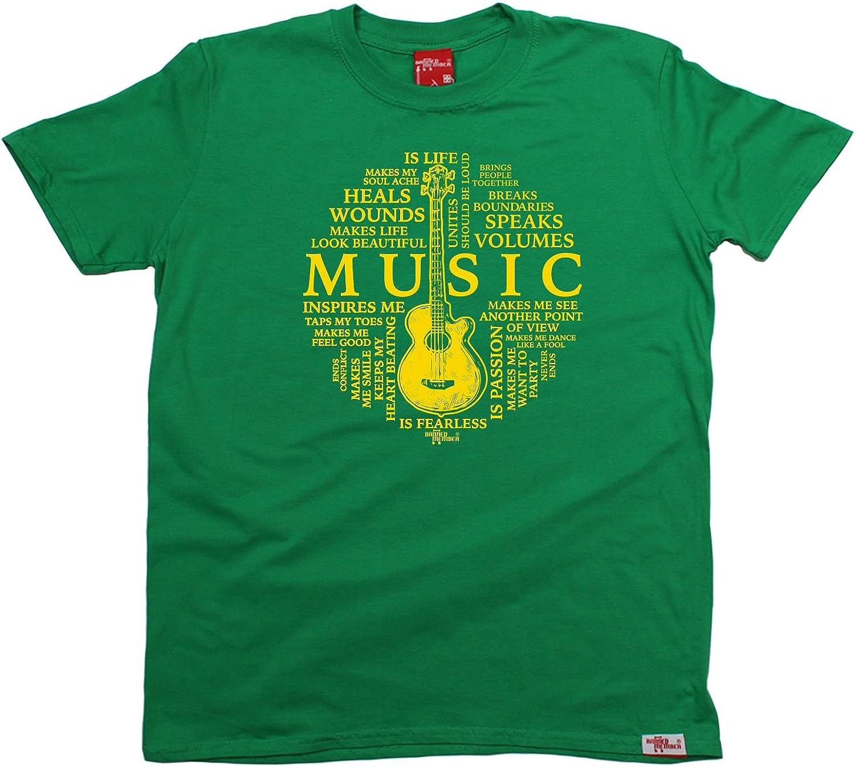 Banned Member BM Playera con diseño de guitarra para hombre Music is My Life Verde Verde Kelly XL: Amazon.es: Ropa y accesorios